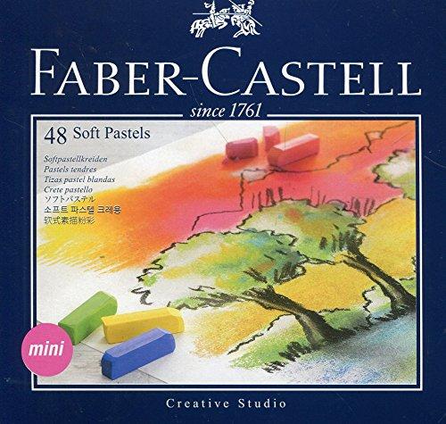 Faber Castell 128248 - Mini Softpastellkreide Studio Quality 48 Etui 48 verschiedene Farben