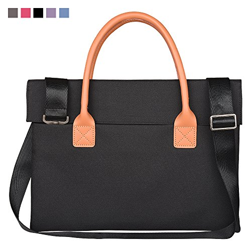 Qishare Multifuncional Universal Fashion Durable Oxford Fabric Portable Handbag, Briefcase, Shoulder Bags, With Removable Shoulder Strap For ALL 15.5-16inch Laptop,Macbook,Notebook(15.5-16inch,Black)