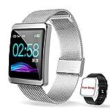 CanMixs Smartwatch Orologio Fitness Activity Trakcer Braccialett, CM11 Impermeabile IP68 Cardiofrequenzimetro da Polso Pedometro Orologio Sport per Donna Uomo per Telefoni Android e iOS Samsung Huawei