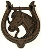 HORSE SHOE CAST IRON DOOR KNOCKER