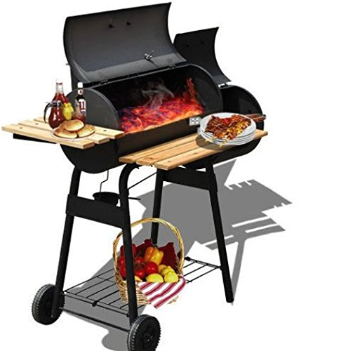 Outdoor Charcoal Barbecue with Side Shelf 3