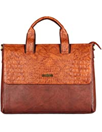 The Clownfish 13 Liters Vegan Leather Briefcase Tablet Bag And Laptop Bag For Up To 14 Inches Laptop Screen -MacBook...