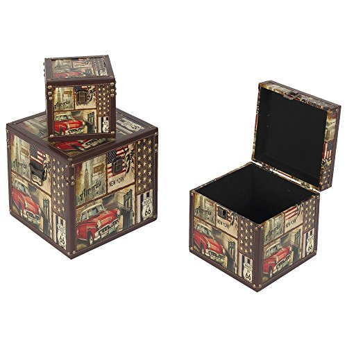 Preisvergleich Produktbild Habita Home Set von 3 Boxen 25 x 25 x 25 1 Design