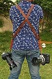 Custom Double Camera Harness, Dual Camera Harness Real Leather Multicamera Strap, Handmade, Adjustable DSLR, SLR Correa de Hombro Doble para cámara de Piel auténtica Hecha a Mano en India