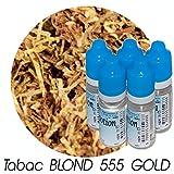MA POTION - Lot de 5 E-Liquide TABAC BLOND 555 GOLD, Eliquide Français Ma Potion, recharge cigarette électronique. Sans nicotine ni tabac