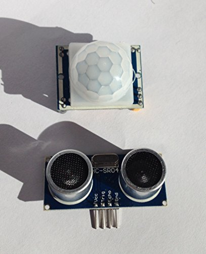 1 x-Infrarot-Bewegungsmelder HC-SR501 und 1 x Ultraschall-Abstandssensor HC-SR04 Ideal für den Einsatz mit dem Raspberry Pi und Arduino, MTS1EU -