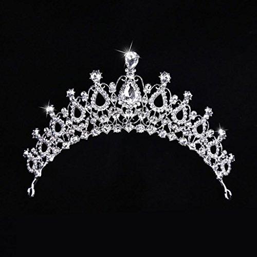 FeiyanfyQ Shiny Strass Crown Frauen Braut Stirnband Headwear Tiara Hochzeit Zubehör