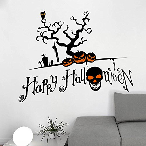 on Halloween Pumpkin Skull Zimmer Schlafzimmer Der Großhandel Kinder Wall 3D Aufkleber Wasserdicht Abnehmbare (Großhandel Halloween Dekoration)