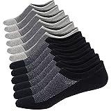 Homme Chaussettes Basses Respirantes Courtes Socquettes de Sport en Coton Confortable Basiques Chaussettes,Noir/Gris (3 Paires Chaque),Taille: 44-48