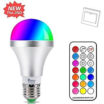 led e27 farbige leuchtmittel 10w rgbw led bulb dimmbare farbwechsel birne mit fernbedienung. Black Bedroom Furniture Sets. Home Design Ideas