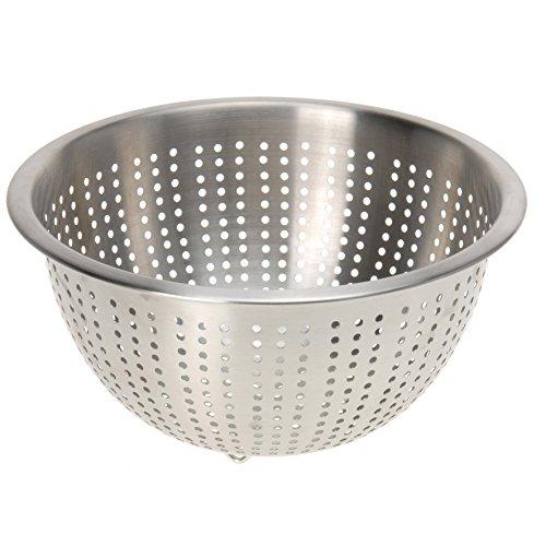 Küchensieb Edelstahl Sieb Dampfeinsatz Seiher Salat-Sieb Durchschlag Abtropfsieb Durchmesser 21 cm Höhe 10,5 cm