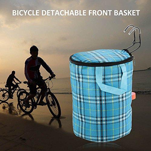 Docooler Lenkerkorb Tasche/Fahrradkörbe, Material: Stahl Und Oxford Tuch, Korbgröße : 29 * 23cm Blau