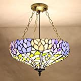 Tiffany American land pendelleuchte anti retro küche lampe gang veranda PENDANT lampe schlafzimmer lampe DF6 LO11 ( Size : D30CM )