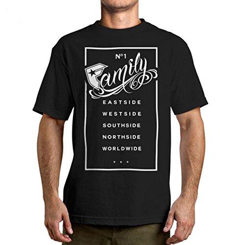 Famous Stars and Straps - Herren Familie Rechteck T-Shirt Black