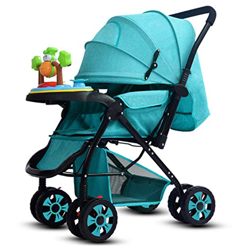 FYYTRL Kinderwagen kann sitzen liegend leicht zusammenklappbaren Allrad-Stoßdämpfer Kind Baby Zwei-Wege-Kinderwagen,Bronze