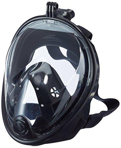 180?¡ã VUE Masque et tuba Volles libre projet respiratoires snorkeling visage avec Anti Bu¨¦e & Anti Fuite, Emp¨ºcher Gag Reflex avec Tubeless Design pour adultes et jeunesse