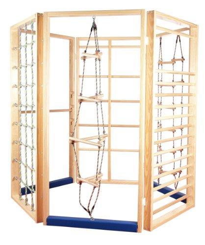 """Preisvergleich Produktbild Klettergerüst """"Klettersechseck - klassisch"""", Sprossenwände aus Holz, freistehend"""
