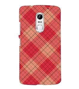 FUSON Christmas Tartan Pattern 3D Hard Polycarbonate Designer Back Case Cover for Lenovo Vibe X3