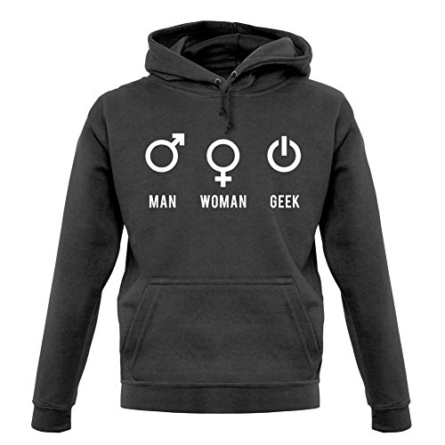 Man Woman Geek - Unisex Sweat/Pull - Graphite - M