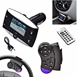 1.5''LCD Car Kit MP3-Player Bluetooth FM Transmitter SD MMC USB-Fernbedienung Auto Bluetooth Freisprecheinrichtung MP3 + Lenkradfernbedienung HKFV