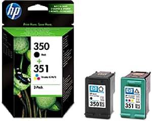 SD412EE#301 HP InkCrtg 350/351 HP350/351 Combo Pack Blister HP 350 Schwarz/351 3 Farben 2-Pack original Tonerkassetten. Blister.
