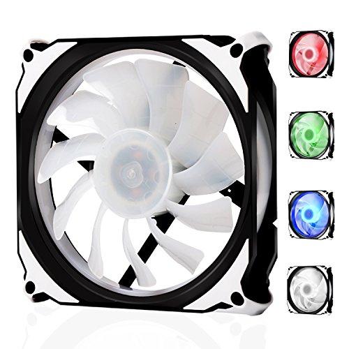 Ventilateur pc 120mm PWM, LATOW ventilateur d'ordinateur RGB 120mm silencieux ventilateur de boîtier de 12V PWM – refroidisseur pc efficace interne avec LED de 4 couleurs