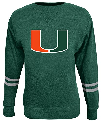 Alta Gracia NCAA Damen Crew Sweatshirt, Damen, Rosaura, grün, Small Scoop Neck Fleece Sweatshirt