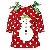 HERME Christmas Baby Red Dress for Girl Children New Year Festival Santa Costume