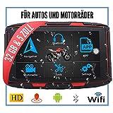 ELEBEST Elebest Navigationsgerät Rider A6 Pro, Navigation für Motorrad und PKW, 5 Zoll Bildschirm Android 6.0 - Bluetooth W-LAN Wasserdicht 32 GB Speicher Freisprecheinrichtung Fahrspurassistent Radarwarner
