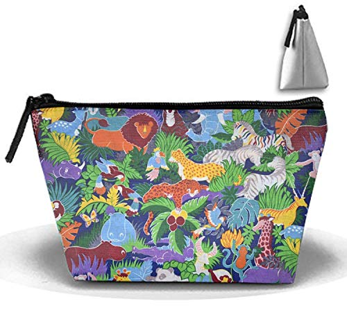 Multi-Functional Wildlife Pattern Trapezoidal Strorege Bag Coin Purse Storage Travel Cosmetic Bag (Dodger Gnome)