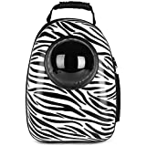 EDTara Breathable Capsule Pet Backpack Carrier Travel Bags for Cat Dog Puppy Small Animals Black and White Dot