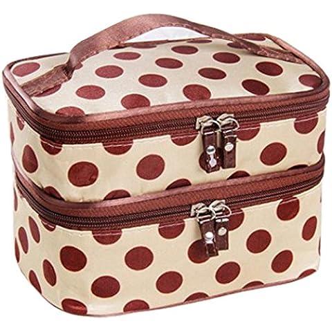 Viaggi toilette, doppio strato Sacchetto cosmetico di trucco del sacchetto