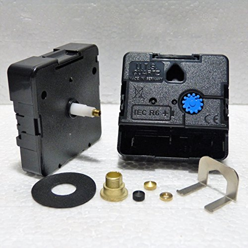 Motoren Uhr (Quarz 24-Stunden-Europäische euroshaft Uhr Bewegung Motor Mechanismus Minute Hand Fixing Nut Gold Closed)