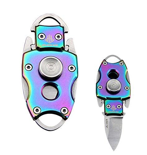 Llavero EDC portátil de alta dureza para exteriores, herramienta plegable, multicolor
