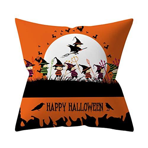 Lazzboy Dekokissenbezug Halloween Pumpkin Dekorative Sofakissenbezug Kissenbezüge Sofa Dekokissenhülle Haus Zimmer Auto Deko(J)