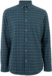 Marks & Spencer Men's Easy Iron Pure Cotton Check Oxfo