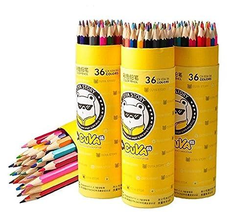Taotree 36 Stück Farbstifte Buntstifte Bleistifte Set Bunt in einer Runddose für Kinder, 36 sortierte Farben