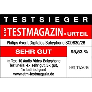 Philips Avent Video-Babyphone SCD630/26, 3,5 Zoll