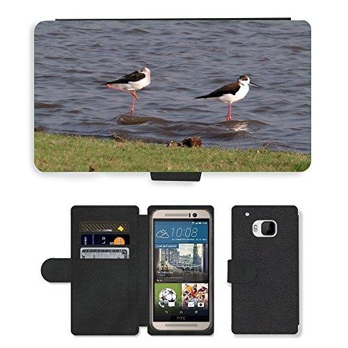 hello-mobile PU LEDER LEATHER FLIP CASE COVER HÜLLE ETUI TASCHE SCHALE // M00137338 Stelzenläufer Gemeinsamen Stelzenläufer // HTC One M9