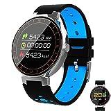 Männer Smartwatch, Farbbildschirm Fitness-Uhr mit Pulsmesser Uhr Ip67 Wasserdicht Smart Band mit Schrittzähler Schrittzähler Fitness Tracker,Blue
