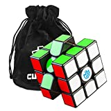 Cubikon GAN 356 AIR SM (Superspeed Magneto) Zauberwürfel - GAN356 Air 3x3 Speed-Cube Gans 356-AIR SM (Magnetic Positioning) - schwarz- inkl Tasche