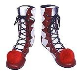 ( Größe 36 ) Clown Schuhe - Pennywise - Erwachsene - Deluxe - Stiefel - Zubehör - Kostüm - Karneval - Halloween - Filme - IT - Cosplay - Joker - Geschenkidee - Hersteller Größe 36 = 38.5 EU