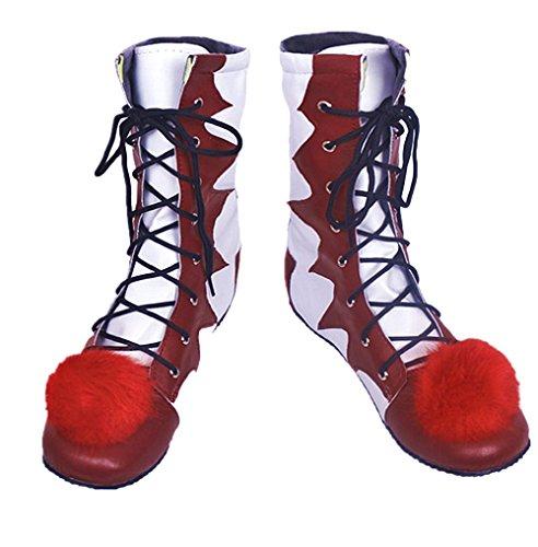 (( Größe 36 ) Clown Schuhe - Pennywise - Erwachsene - Deluxe - Stiefel - Zubehör - Kostüm - Karneval - Halloween - Filme - IT - Cosplay - Joker - Geschenkidee - Hersteller Größe 36 = 38.5 EU)