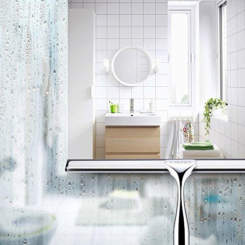 E-PRANCE® Bad- und Duschabzieher Badezimmerwischer Bad- und Duschwischer mit Wandaufhänger, Edelstahl -