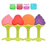 Baby Teething Toys Soft Teether Toys Best Infant & Toddler Teething Pain Relief- Non-Toxic,100% Safe BPA Free Fruit Teethers Fruity Chews Ring Teethers 3 Months Plus