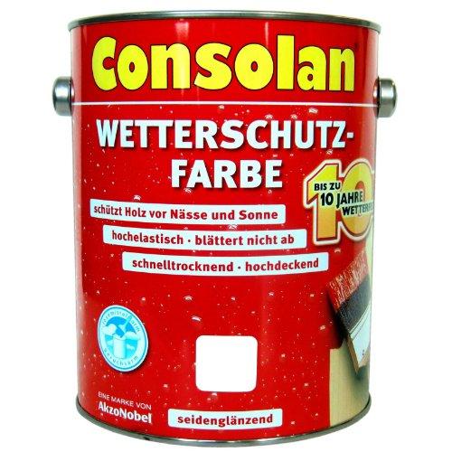 Consolan Wetterschutzfarbe weiß 2,5L