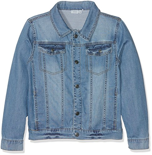 NAME IT Mädchen NITADAN DNM JACKET NMT NOOS Jacke,,per pack Blau (Light Blue Denim Light Blue Denim),158