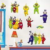 JUNMAONO Teletubbies Wandaufkleber/Wandgemälde/Wand Poster/Wandbild Aufkleber/Wandbilder/Wandtattoo/Tapete/Tapezieren/Tapeten/Wand Zeitung/Instant Aufkleber (2)