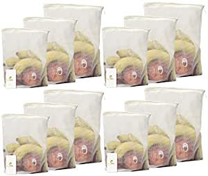 HomeStrap 12 Piece Microfiber Fridge Bags, White