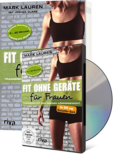 Buchseite und Rezensionen zu 'Fit ohne Geräte für Frauen (Buch + DVD - Bundle): Trainieren mit dem eigenen Körpergewicht' von Joshua Clark